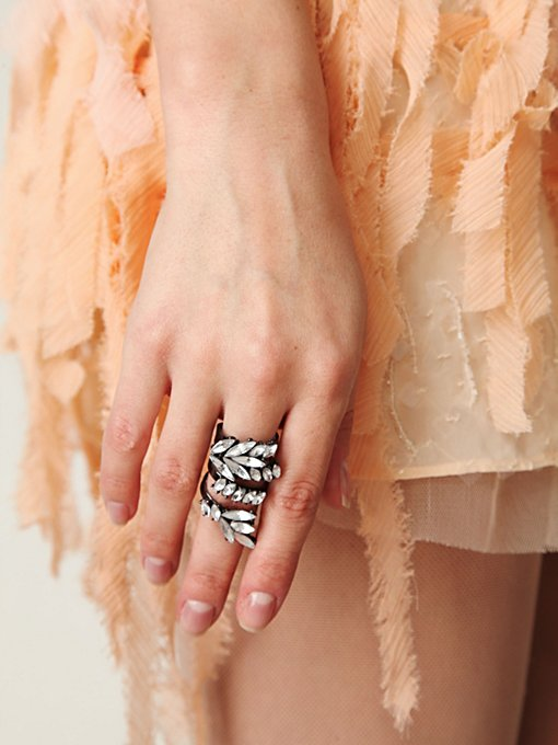 Rhinestone Wrap Ring