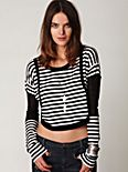 Bamboo Stripes Crop Top