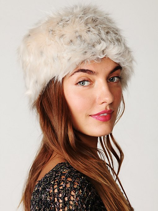 Babushka Faux Fur Hat