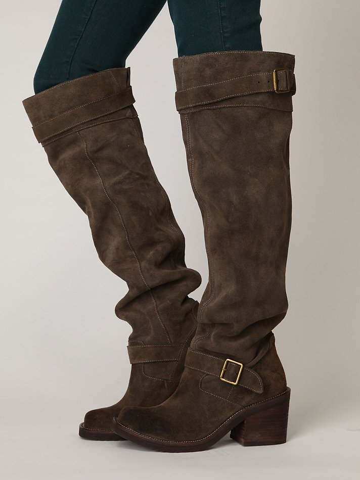 JEFFREY CAMPBELL MORGAN SUEDE TALL BOOT on The Hunt
