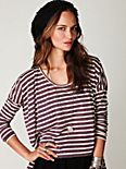 Striped Long Sleeve Boxy Tee