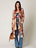Fairisle Long Cardigan