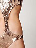 Sequin Cut Out One Piece
