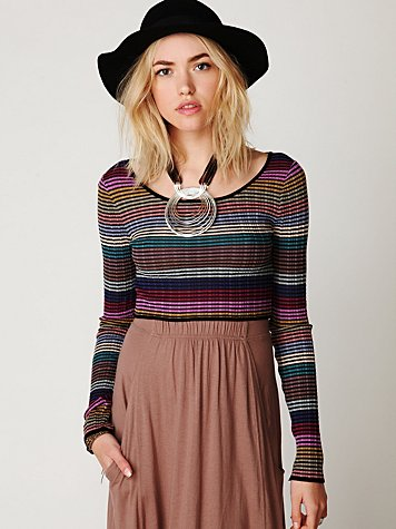 Cropped Stripes Pullover