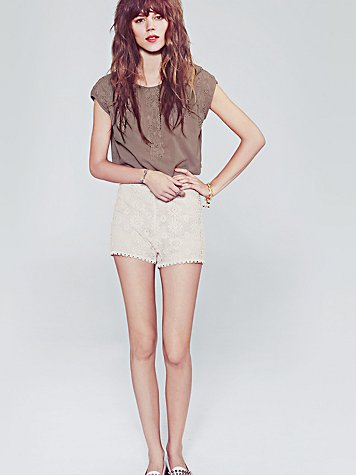 Free People Crochet Short