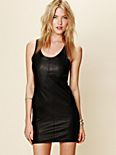 Ebony Leather Shift Dress