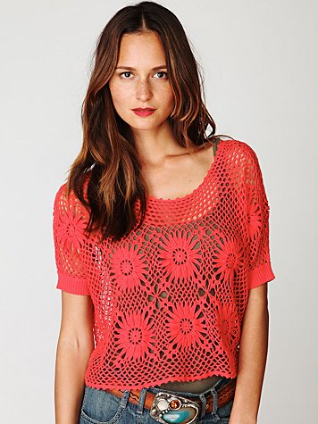 FP New Romantics Bloom Crochet Top