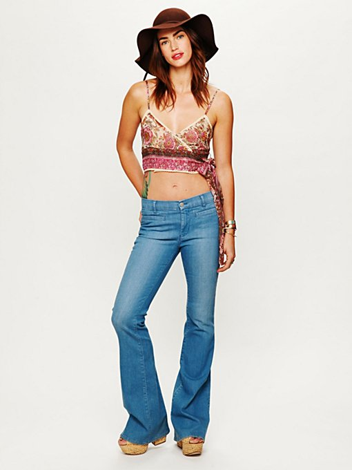 Printed Wrap Crop Top