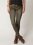 5 Pocket Vintage Wash Skinny Denim