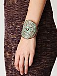 Cut-Out Grecian Leather Cuff