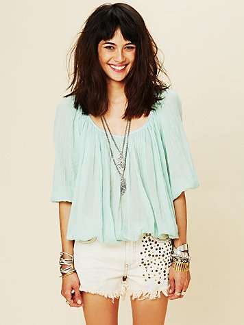 Free People FP ONE City Peasant Blouse