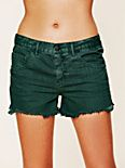 Colored Denim Cutoff Shorts