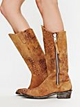 Feathered Zip Boot