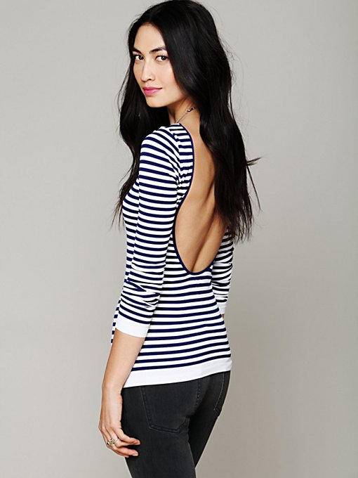 Striped Low Back Top in clothes-layering