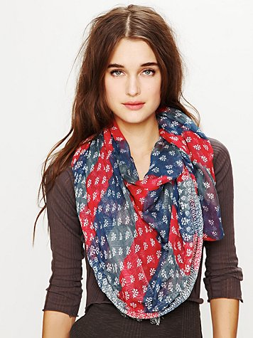 Free People Border Americana Scarf