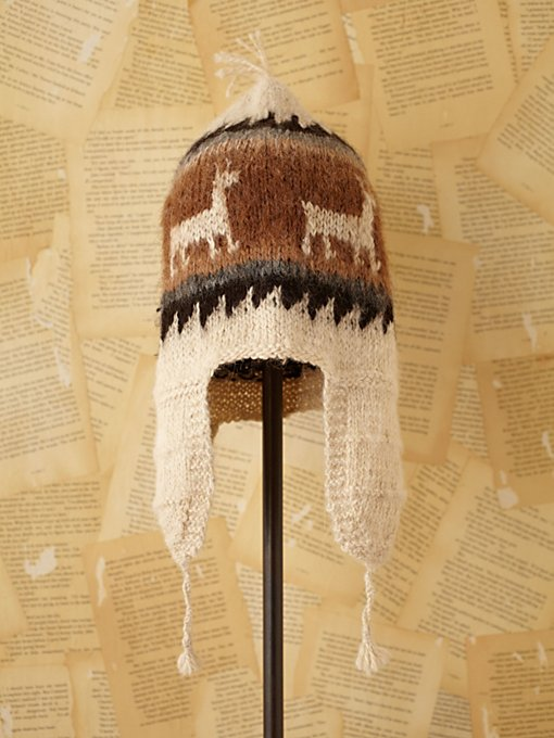 Free People Vintage Wool Knit Hat in Vintage-Accessories