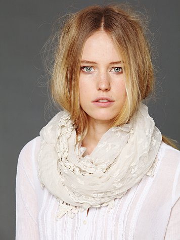 Free People Lace Mix Scarf