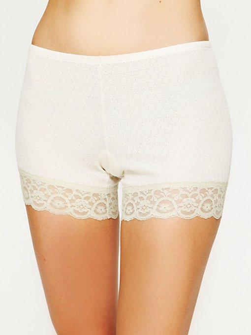 Intimately Free People Pointelle Bike Short in Loungewear