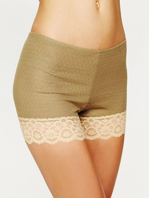 Pointelle Bike Short in Underneath-It-All