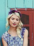 Tonal Ribbon Flower Headdress
