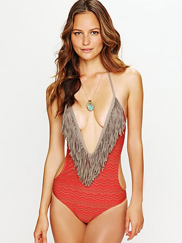 Fringe Printed One Piece
