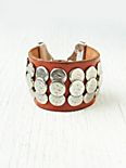 Hammered Stud Leather Cuff