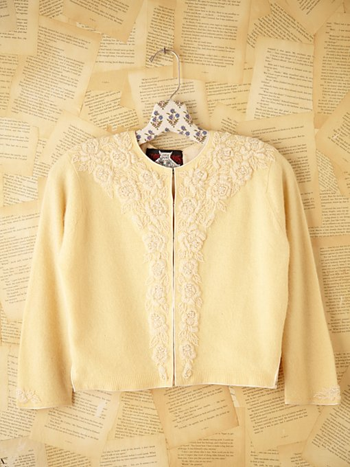 Free People Vintage Cropped Sweater in Vintage-Clothing