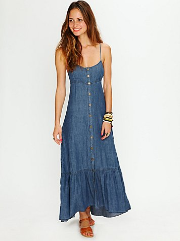 Free People Buttondown Maxi