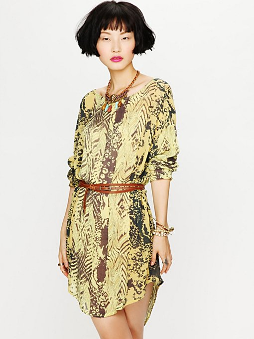 Urbi Printed Long Sleeve Dress