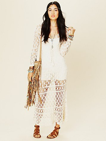 To The Max Crochet Dress
