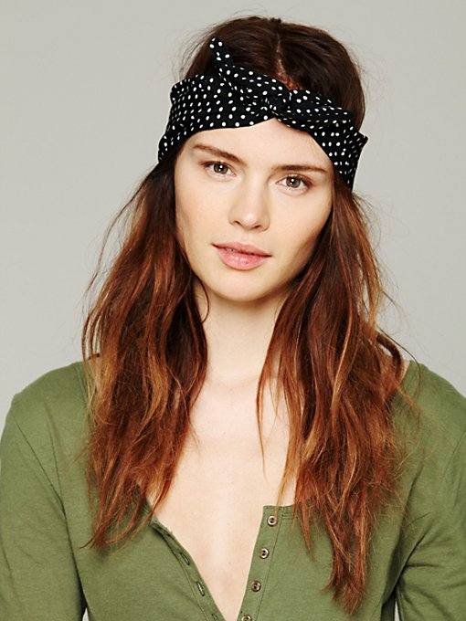 Free People Printed Wire Tie in Headbands