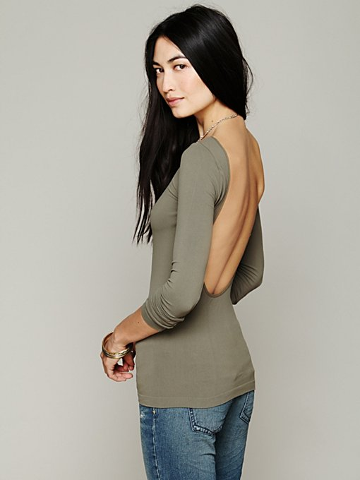 Solid Low Back Cami in clothes-layering