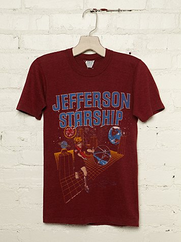 Free People Vintage Jefferson Starship 1981 Graphic Tee