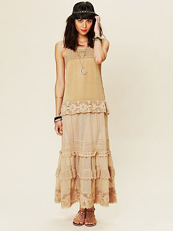 Free People Tiered Lace Candy Dress