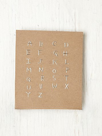 Alphabet Post Earring