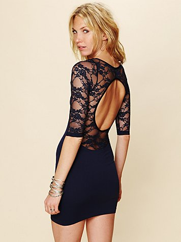 Free People Open Back Lace Tunic