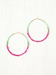Neon Tatty Wrapped Hoops