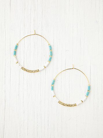 Free People Beaded Zoe Hoops