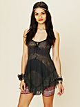 Lace Panel Babydoll Top