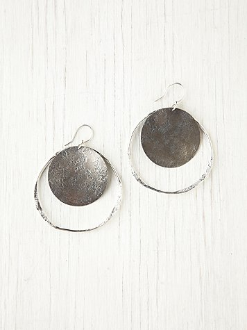 Sibilia Disc Hoop Earrings