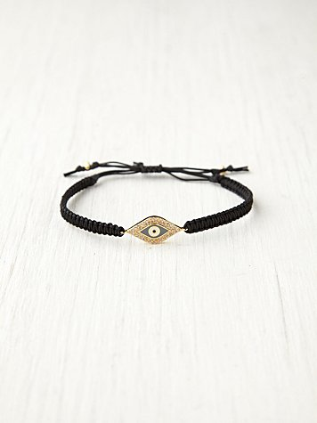 Free People Evil Eye Tai Bracelet