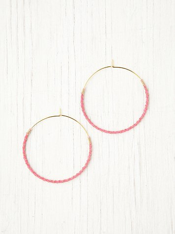 Gold Chain Wrapped Hoops