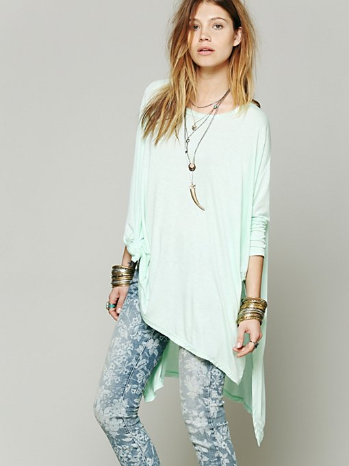 Free People Big Dipper Oversized Tee in Oversized-Tees