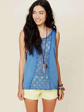 Free People We The Free Crochet Pieced Tank