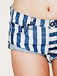 Navy Stripe Denim Cutoffs