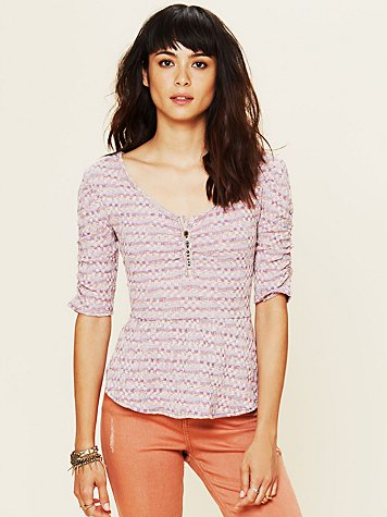 Free People Candy Peplum Top