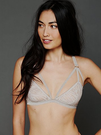 Cut Out Triangle Bra