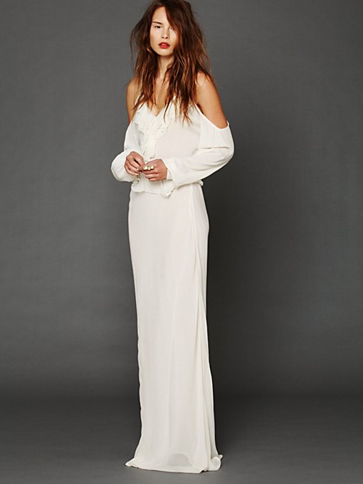 Temptress Cold Shoulder Maxi in To-All-a-Good-Night