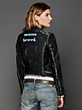 Vanesa Embroidered Leather Jacket