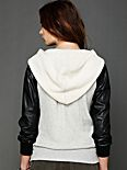 Vegan Leather Hoodie